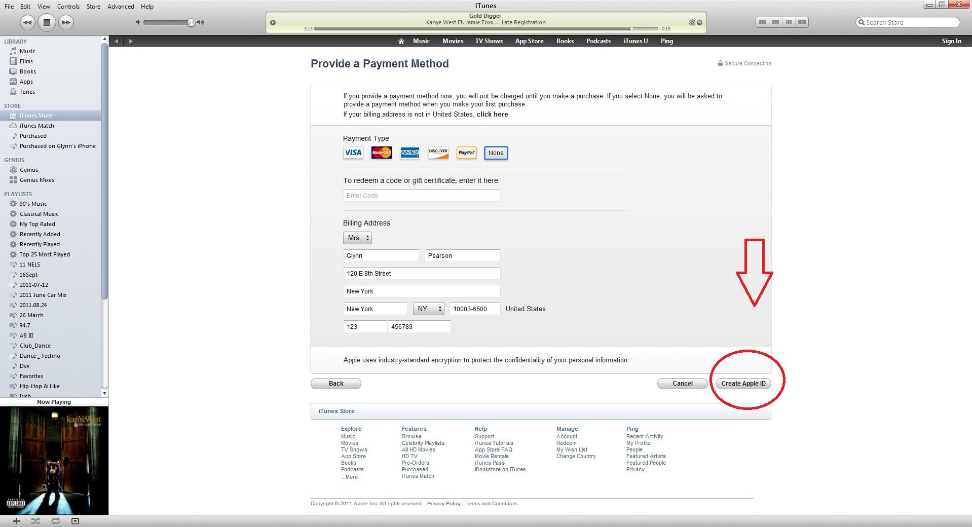 how to create my apple id
