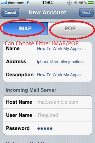 Can Choose Either IMAP or POP Complete Details Found in Outlook