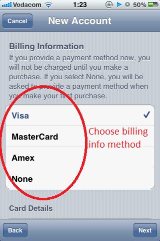 Choose Billing Method