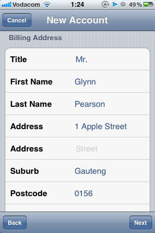 Complete Personal Details