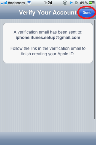 Verification Email Sent