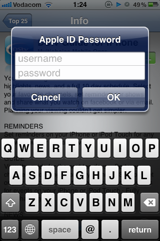 Sign in With Apple ID Details Just Created