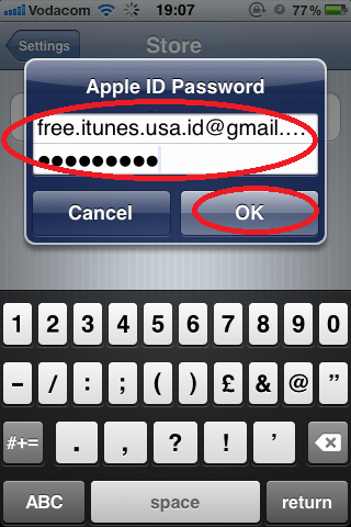Sign In with other Account Details