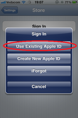 iPhone Use Existing