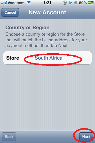 Ensure Your Country is Displayed, Then Tap Next