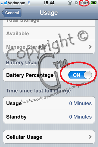 Set Battery Percentage On or Off