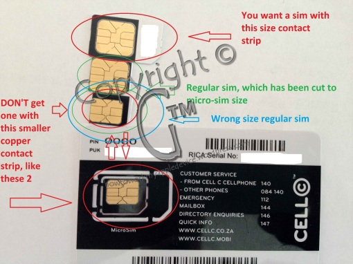 Sim Card Copper Contact Sections