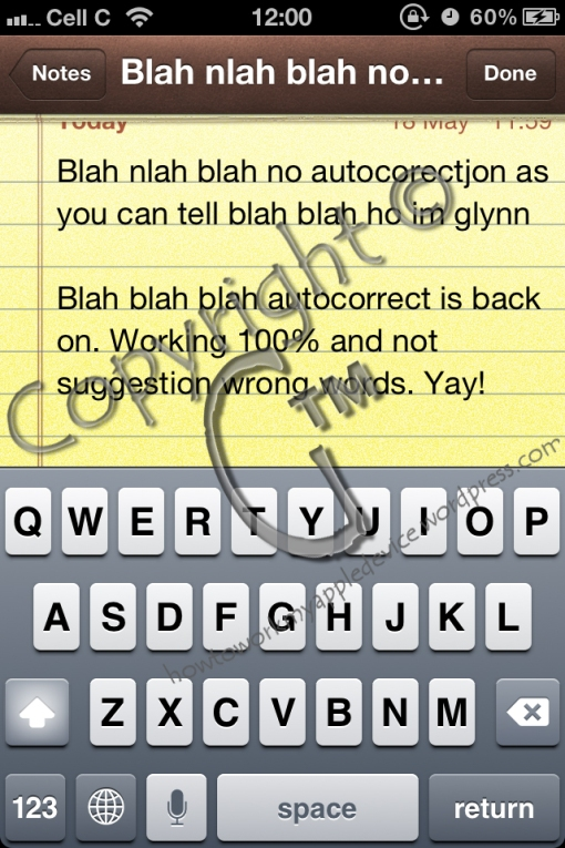 """Typing a note With a """"fresh"""" keyboard dictionary"""