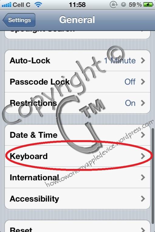 Settings(Keyboard)