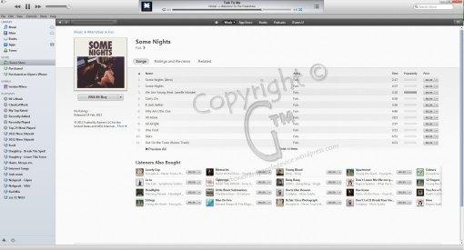 iTunes Album Purchase Screen