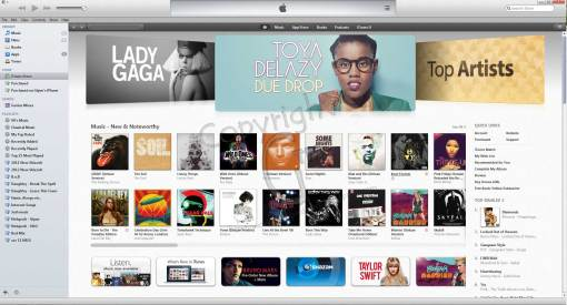 iTunes Store Main View